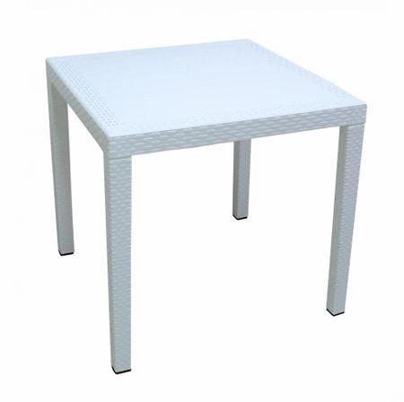 MEGA PLAST RATAN LUX Rattan asztal, 71 x 75,5 cm, Fehér