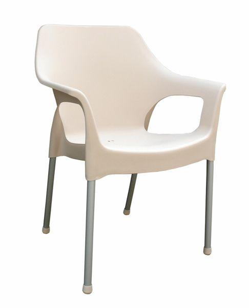 MEGA PLAST MP1282 URBAN (AL nohy) židle, 83,5x60x54 krémová