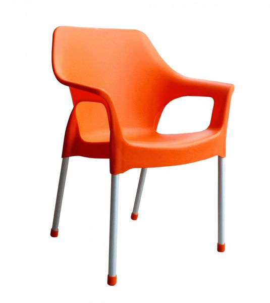 MEGA PLAST MP1282 URBAN (AL nohy) židle, 83,5x60x54 oranžová