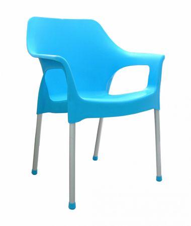 MEGA PLAST MP1282 URBAN (AL nohy) stolička, 83,5x60x54 tyrkysová