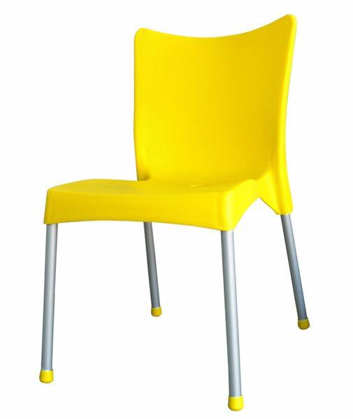 MEGA PLAST MP464 VITA (AL nohy) židle, 82,5x48x55 žlutá