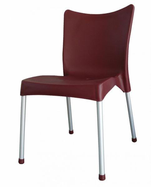 MEGA PLAST MP464 VITA (AL nohy) židle, 82,5x48x55 červená