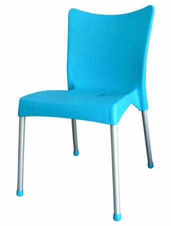 MEGA PLAST MP464 VITA (AL nohy) židle, 82,5x48x55 - zánovní tyrkysová