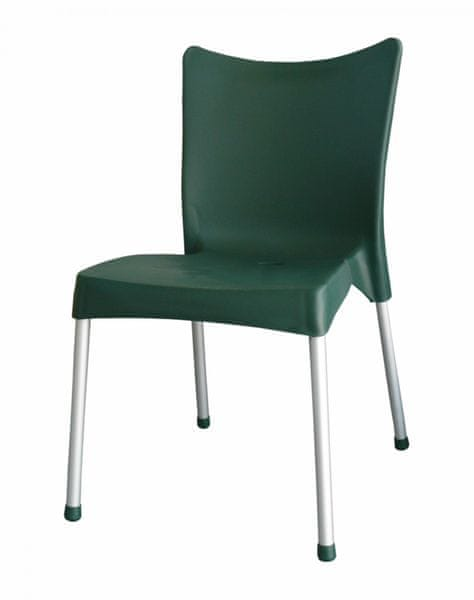 MEGA PLAST MP464 VITA (AL nohy) židle, 82,5x48x55 tmavě zelená