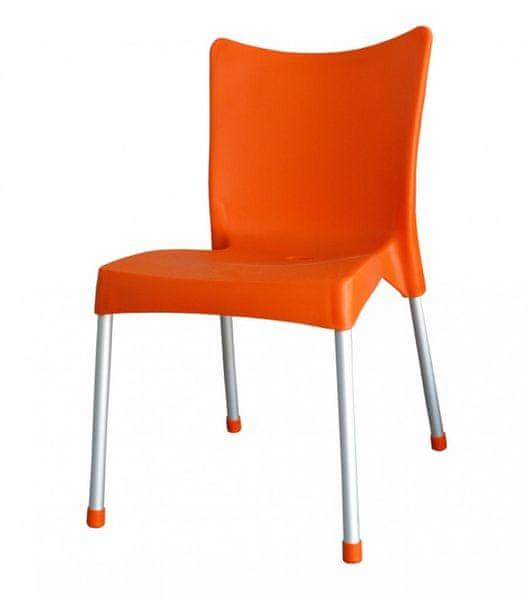 MEGA PLAST MP464 VITA (AL nohy) židle, 82,5x48x55 oranžová