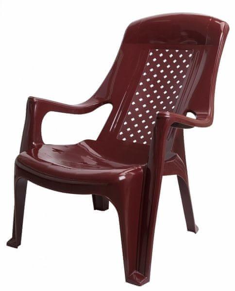 MEGA PLAST MP661 CLUB židle, 81x60x80, stohovovatelná, PP červená
