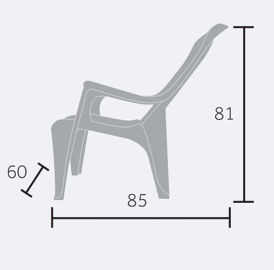 MEGA PLAST MP661 Club stol, 81x60x80, zložljiv, PP