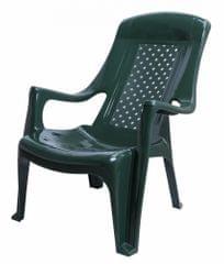 MEGA PLAST MP661 CLUB židle, 81x60x80, stohovovatelná, PP, tmavě zelená - rozbaleno