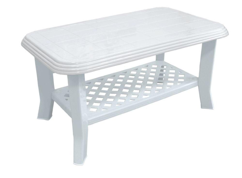MEGA PLAST MP660 CLUB stôl 44x55x90cm, PP biela