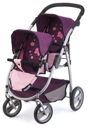Bayer Design otroški voziček Twin Jogger, roza/vijolična