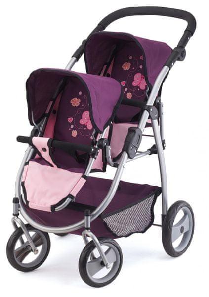 Bayer Design Kočárek Twin Jogger růžová/fialová