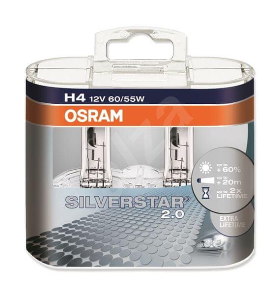 Osram 12V H4 60/55W P43t 2ks Silverstar