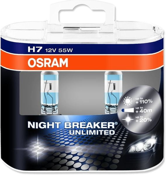 Osram 12V H7 55W P14.5s 2ks Night Breaker Plus