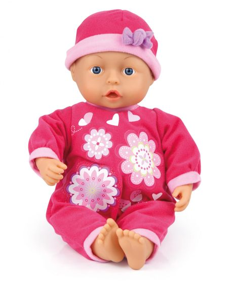 Bayer Design Panenka First words baby 33 cm růžová