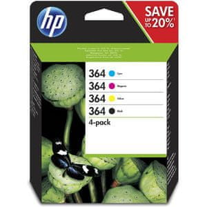 HP komplet črnil HP 364 (N9J73AE), Cmyk