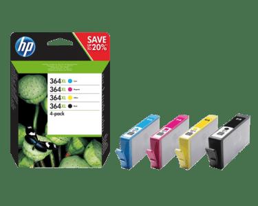 HP 364XL čtyřbalení originálních inkoustových kazet s vysokou výtěžností (N9J74AE)