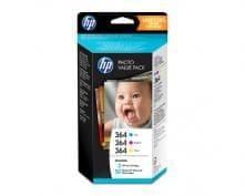 HP komplet črnil HP 364+papir 50 listov, 10x15, Glos