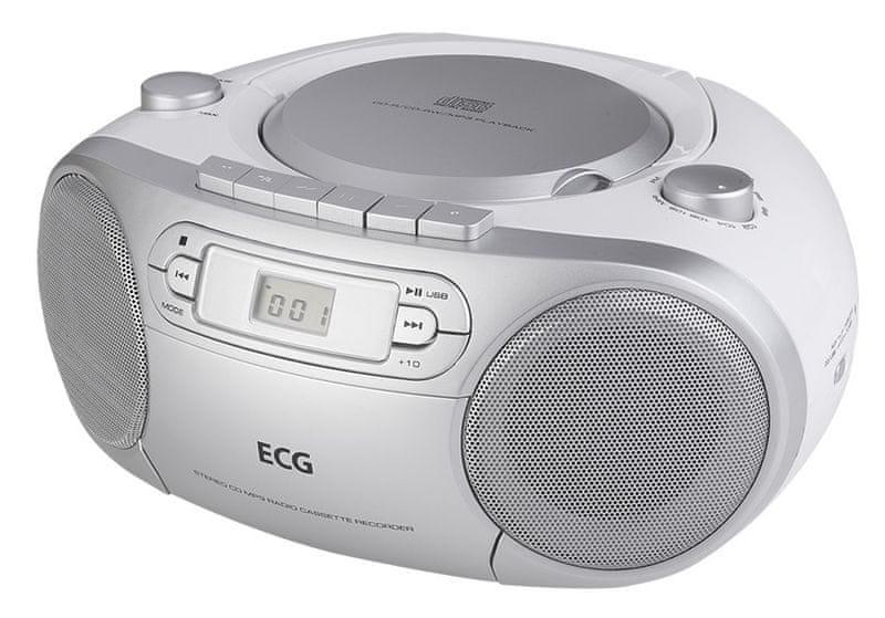 ECG CDR 888 USB, stříbrná