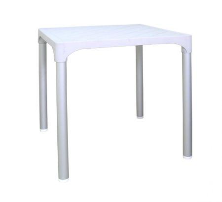 MEGA PLAST MP1351 VIVA stôl, polyratan biela