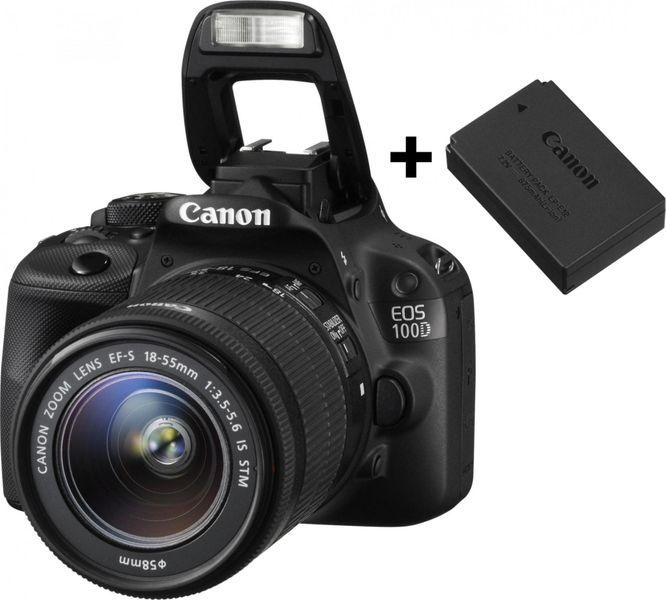 Canon EOS 100D + 18-55 mm IS STM + náhradní originální akumulátor LP-E12