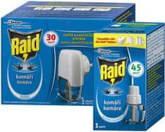 Raid elektrický proti komárom s 2 ks tekutej náplne