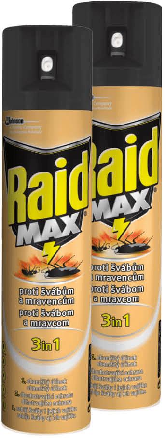 Raid sprej proti lezoucímu hmyzu 2x400 ml