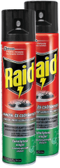 Raid sprej proti lezúcemu hmyzu s eukalyptovým olejom 2x400 ml