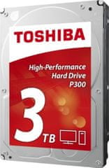 "TOSHIBA P300 3TB / interní / SATA III / 3,5"" / 7200 rpm (HDWD130EZSTA)"