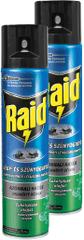 Raid sprej proti lietajúcemu hmyzu s eukalyptovým olejom 2x400 m