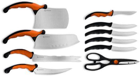 Kitchen Artist Zestaw noży Swiss Q Ergo, 10 szt.
