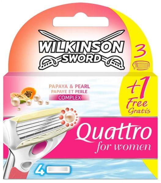 Wilkinson Sword Quattro for Women Náhradní hlavice 4ks