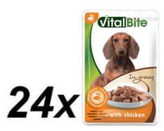 VitalBite hrana za pse, piščanec, 24 x 85 g