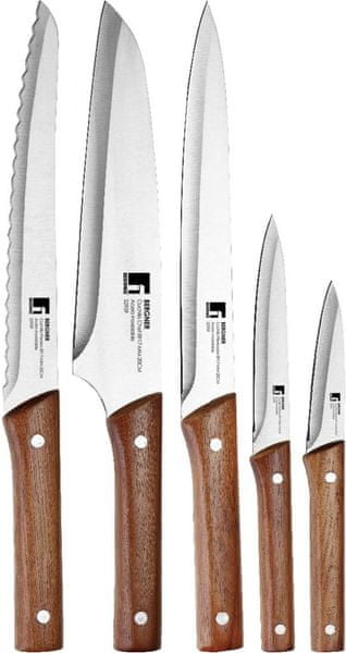 BERGNER Sada 5 nožů NATURE