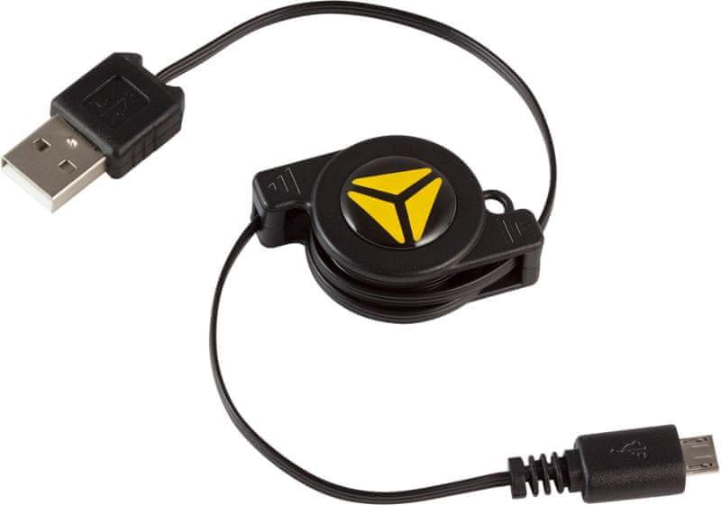 Yenkee svinovací USB A - micro USB kabel (YCU 100R BK)