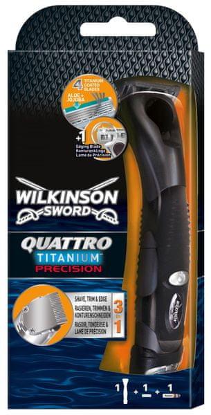 Wilkinson Sword Quattro Titanium Precision holicí strojek + 1 hlavice