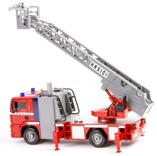 Dickie gasilski tovornjak z dvigalom, 31 cm