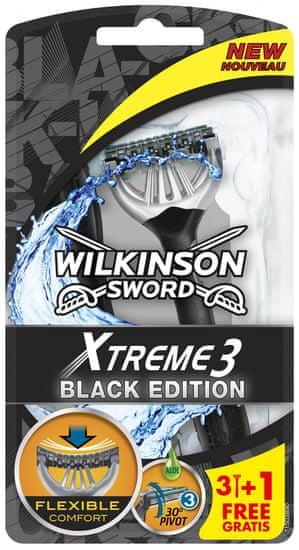 Wilkinson brivnik za enkratno uporabo Xtreme3 Black, 4 kosi