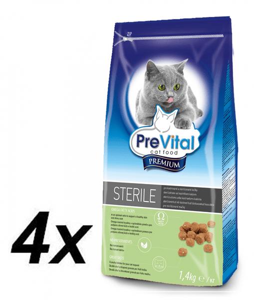 PreVital Premium granule pro kastrované a sterilizované kočky 4x 1,4kg