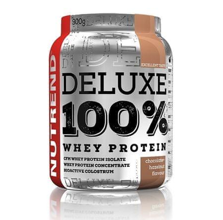 Nutrend Deluxe 100% whey - čokoláda + lieskový orech 1x900 g