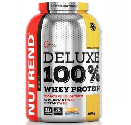 Nutrend Deluxe 100% whey - citronový cheesecake 1x2250 g