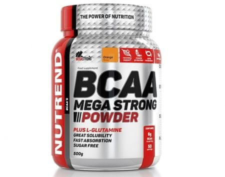 Nutrend Bcaa mega strong powder ananás aminokyseliny, 1x500 g