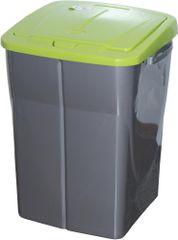 Koš na třídění odpadu 45 l zelená