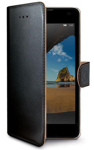 Celly pouzdro Wally, Lumia 550, černé