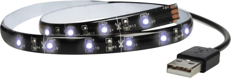 Solight LED pásek 100 cm, USB studená bílá