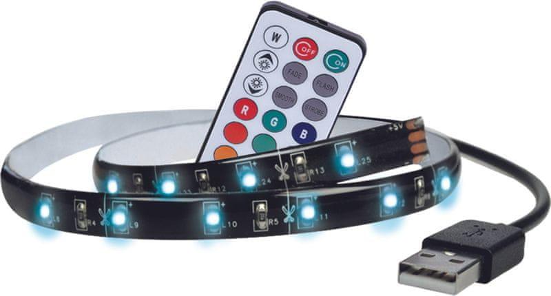 Solight LED RGB pásek 100cm USB s ovladačem