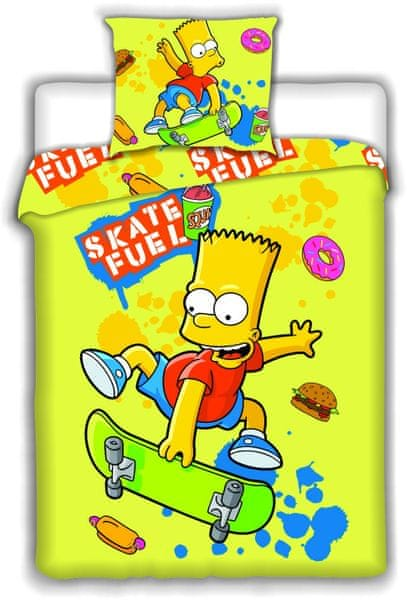 Jerry Fabrics Povlečení Bart Simpson skate 140x200 70x90