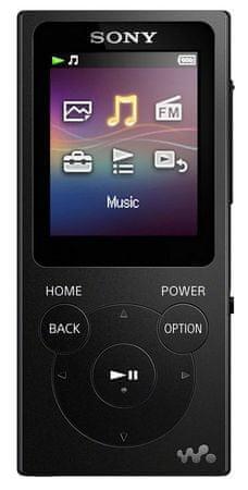SONY NW-E393B / 4GB, čierna