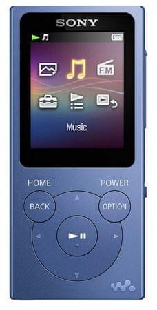 SONY NW-E393L / 4GB, modrá