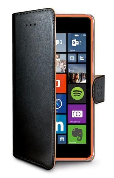 Celly pouzdro Wally, Lumia 540 / 540 Dual SIM, černé