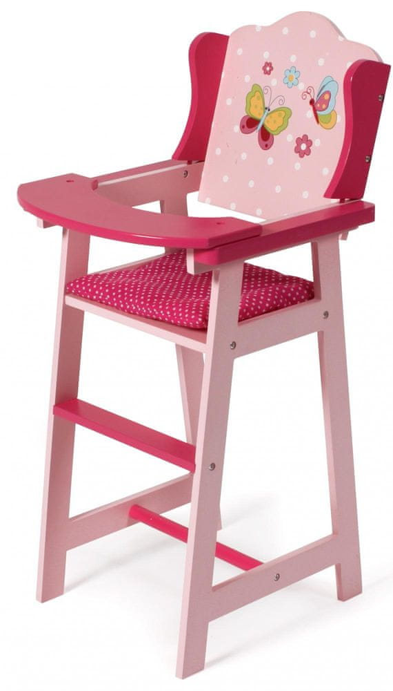 Bayer Chic Židlička pro panenku dřevo rose